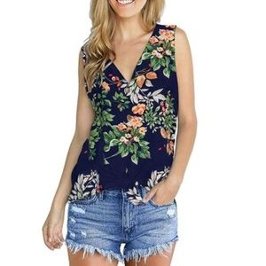 Tops - Women's Summer Sleeveless Floral Print Tops